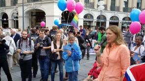 #BusderMeinungsfreiheit am 6.9.2017 in München, Stachus